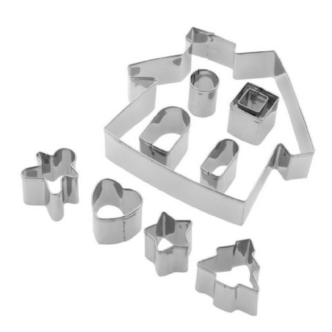Tala 10 Piece Gingerbread House Biscuit & Cookie Cutter